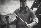骑士。复古风格的照片 — 图库照片