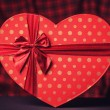 Valentines gift in heart shape. — Stock Photo #40496175
