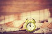 Alarm clock and scarf. — Foto de Stock