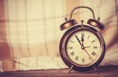 Alarm clock and scarf. — Foto Stock