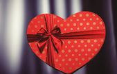 Valentines gift in heart shape — Stock Photo