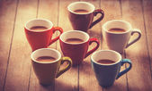 Group of a coffee cups. — Stock Photo