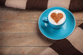 Cup of сoffee with shape heart — Stock Photo