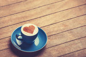 Cup of  сoffee on a wooden table. — Stok fotoğraf