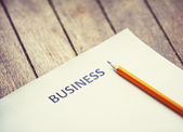 Pencil and paper for business begin. — Stock Photo