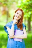 Redhead smiling woman  — Stock Photo