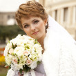 Bride near an opera theater — Stock Photo #7317052