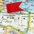 Libya  on map - Stock Photo