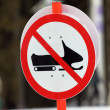 Forbidden sledging  sign — Stock Photo