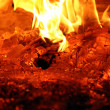 Glowing embers — Stock Photo