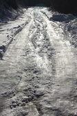 Strada di montagna congelata — Foto Stock