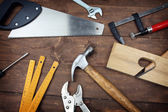 Carpenter's tools — Stock Photo