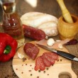 Salami sausage — Stock Photo