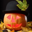 Stock Photo: Halloween Jack o Lantern