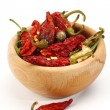 Dry red chillies — Stock Photo #34937383