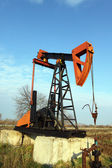 Olja pump jack. — Stockfoto