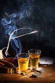 Whiskey and cigar — Foto Stock