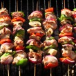 Barbecue skewers — Stock Photo