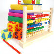 Books and abacus — Stock Photo