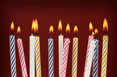 Bougies d'anniversaire — Photo