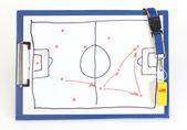 Soccer tactical plan — Stock Photo