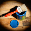 Brush on tin can — Stock Photo #48194557