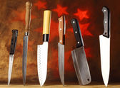 kitchen knives — Stock Photo