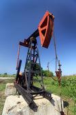Olie pomp jack — Stockfoto