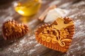 Gingerbread hearts — Стоковое фото