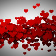 Abstract red hearts, flying. background High resolution 3D — Stock Photo