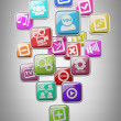 Stock Photo: APPS icons High resolution 3d render