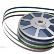 Cinema film roll and strip isolated on white background 3d illustration. — Stock Photo