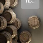 Wooden barrels Background 3d illustration. — Stock Photo #20315711