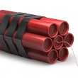 Dynamite with burning wick — Stock Photo