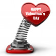 3d spring button heart. Happy Valentines day. — Stock Photo #20316701