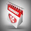 3d illustration. Valentine's calendar - Stock Photo