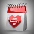 3d illustration. Valentine's calendar — Stock Photo