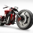 Concept motorcycle isolated on white background  — Stock Photo