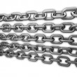 Chains on the white background 3d abstract — Stock Photo