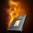 CPU in Fire high resolution 3d illustration — Stock Photo #20319267