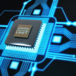 Central Processing Unit. (microchip) Concept of technology background. — Stock Photo