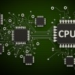 Circuit board.background high resolution 3d digitally generated image — Stock Photo