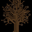 Circuit board tree background 3d illustration. high resolution — Stock Photo #20319903