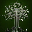 Circuit board tree background 3d illustration. high resolution — Stock Photo #20319909