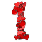 Figure 1 of hearts — Stock Photo