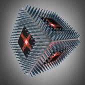 SUPER 3D Processor unit CPU. — Stock fotografie