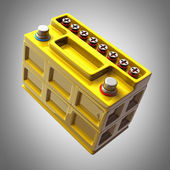 Battery car. High resolution. 3D image — Stock Photo