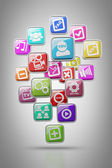 APPS icons High resolution 3d render — Stock Photo