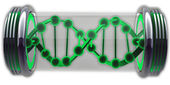 Sample DNA on white background 3d abstract — Stock Photo