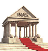 Bank building High resolution 3D image — 图库照片